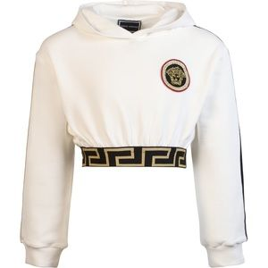 Young Versace 10 crop white logo hood authentic
